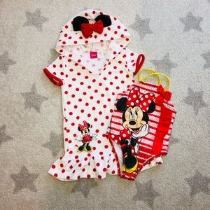 ❤️Disney Minnie Mouse Swimsuit and Cover-Up❤️4T